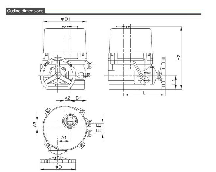 TQ-02 Integral explosion proof type dwg