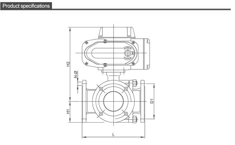 TL-420 series of electric three-way valve dwg