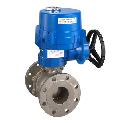 TL-440 electric 2 piece design ball valve with TQ actuator