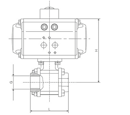 TL-460 pneumatic ball valve dwg