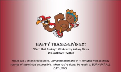 Thanksgiving Workout #BurnBeforeTheBird