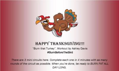 Thanksgiving Workout #BurnBeforeTheBird