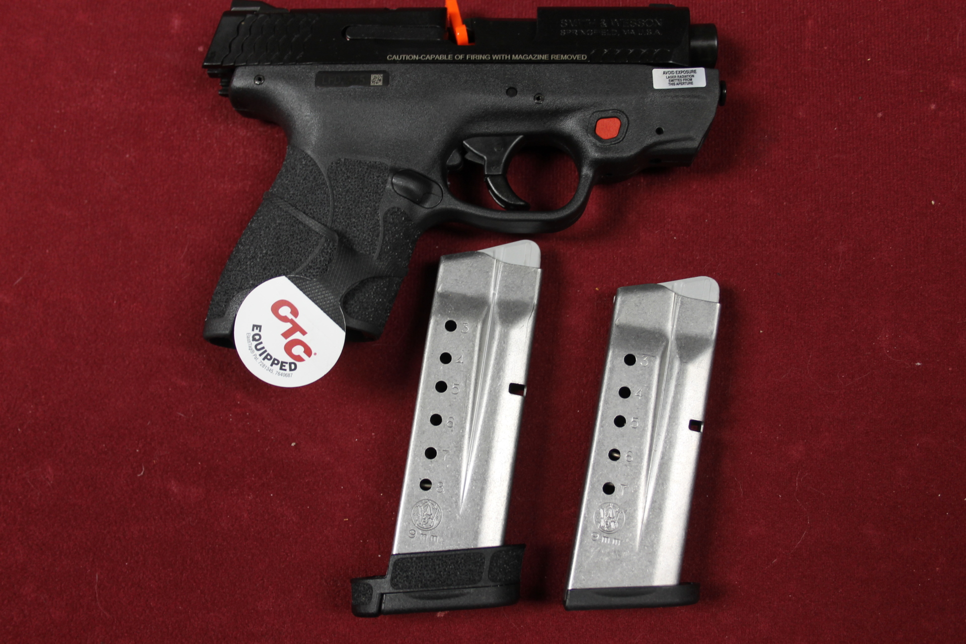 S&W SHIELD M&P9 9MM W/CTC INTEGRATED RED LASER  $439