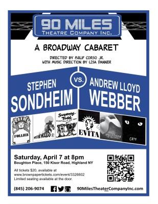 Sondheim vs. Webber Cabaret April 2018