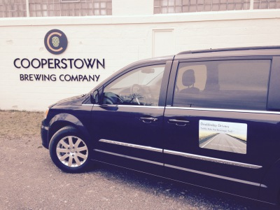 Our Van at Cooperstown Brewing