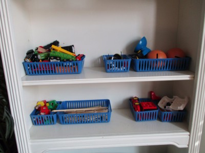 some of Isaiah's work shelves
