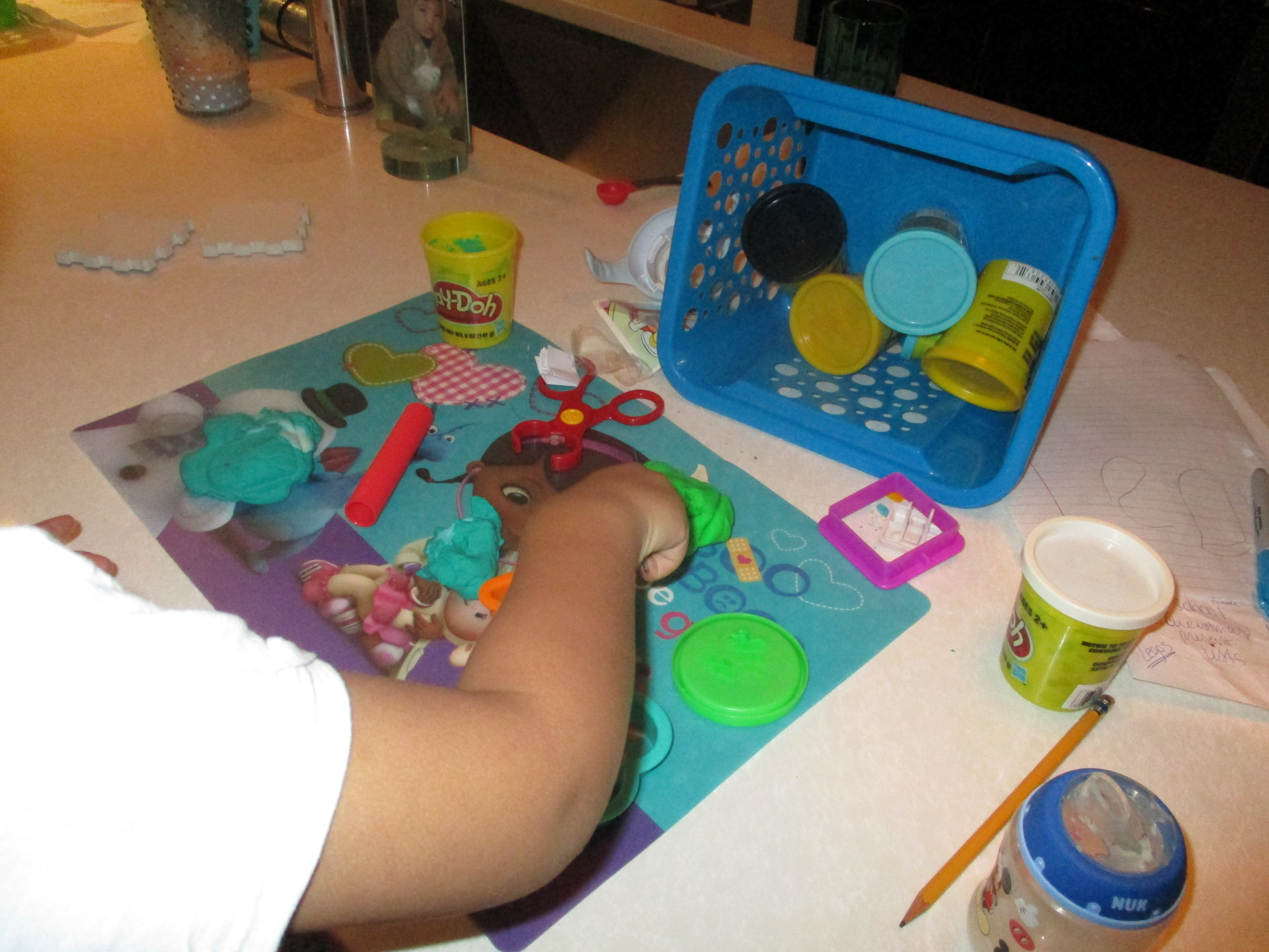play-doh for choice time