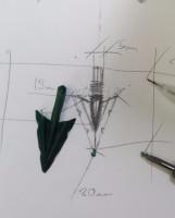 custom design silver arrow pendant
