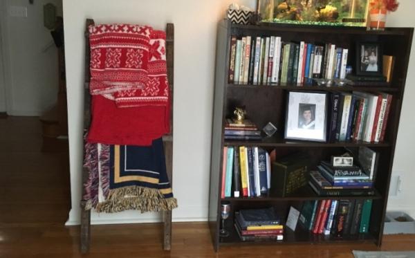 My Pinterest Inspired DIY Blanket Ladder
