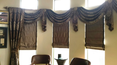 swags and cascaces, window treatments, valance
