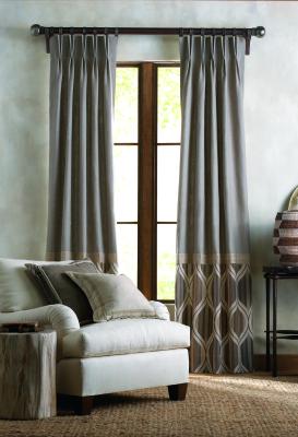 color block panels, drapes
