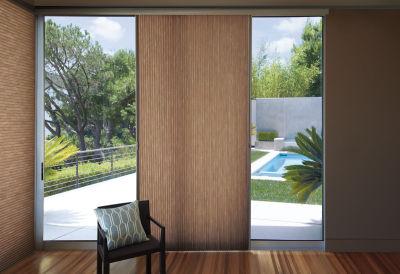 patio door, honeycomb shade, cell shade