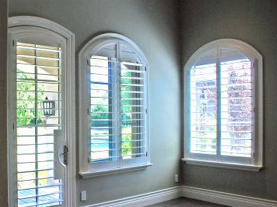 arched shutters, shutters, basswood