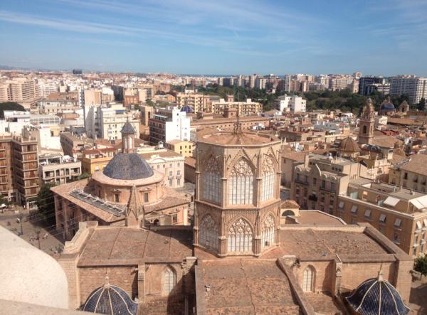 La Catedral de Valencia vista desde arriba.