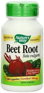 Nature's Way Beet Root Powder Capsules    - 500 mg