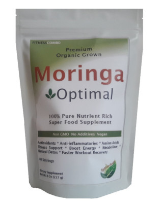 Organic Moringa Optimal Fitness Powder Nutrient Rich Super Food - Vegan/ Non GMO