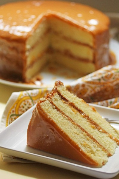 Triple Layer Caramel Cake