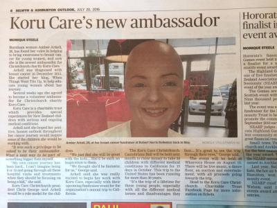 Koru Care Christchurch Ambassador