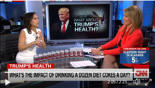 CNN Goes There -- Explains Why Trump Drinking 12 Sodas A Day is Harmful