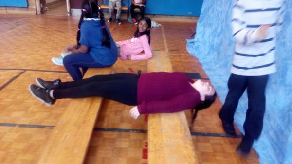 Emily planking!