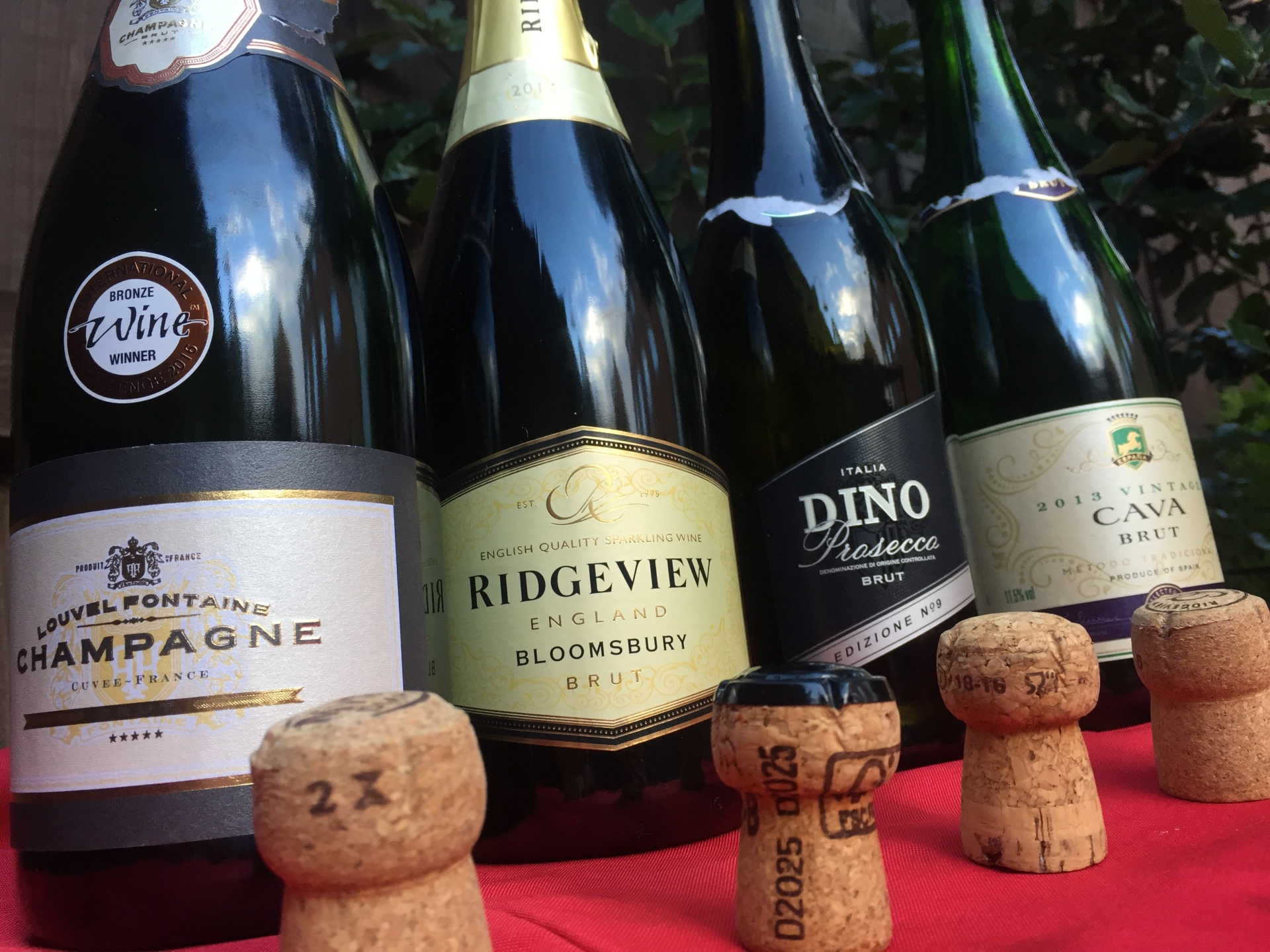 Blind tasting bottles of fizz line up for battle