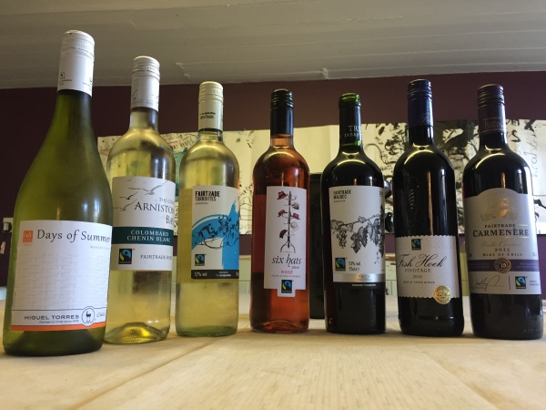 Seven fairtrade wines line up for tasting