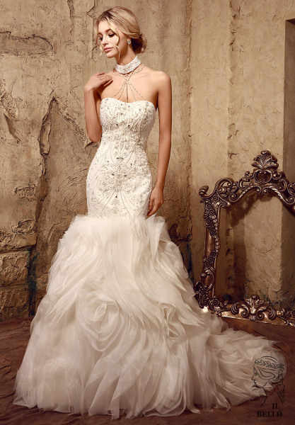 Organza Ruffles Wedding Gown