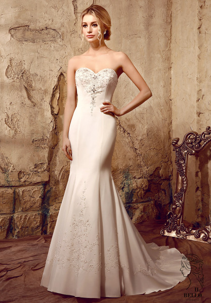 Simple Fit And Flare Wedding Gown