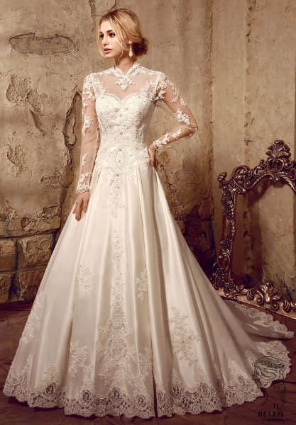 Lone Sleeve Lace Wedding Gown