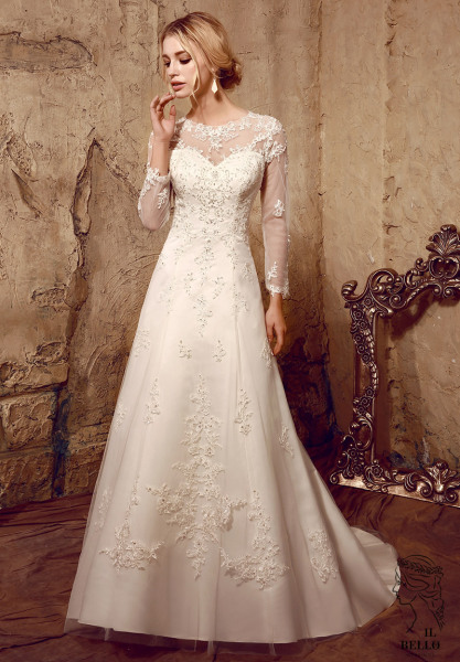 Soft Satin A-Line Wedding Gown