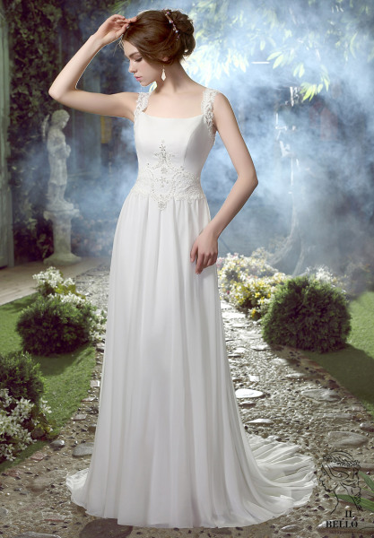 Chiffon Sleeveless Wedding Gown