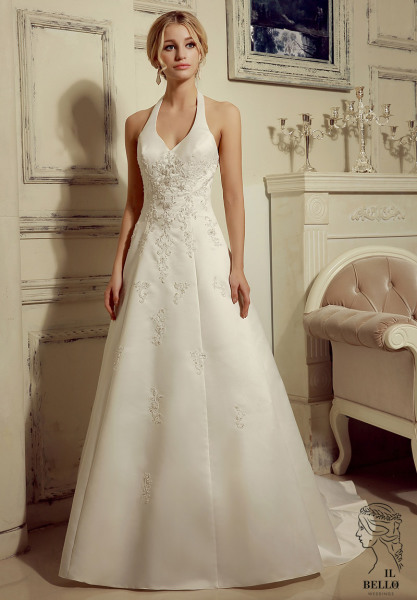 Vintage Halter Wedding Gown