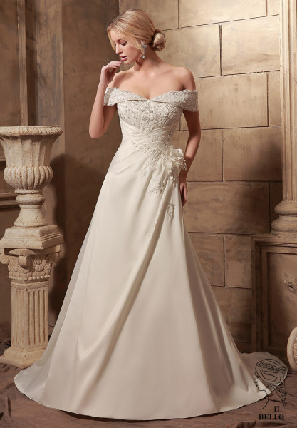 Off-Shoulder Wedding Gown