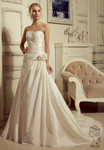 A-line Taffeta Wedding Gown
