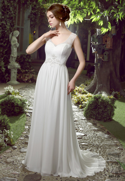 Chiffon Informal Wedding Gown