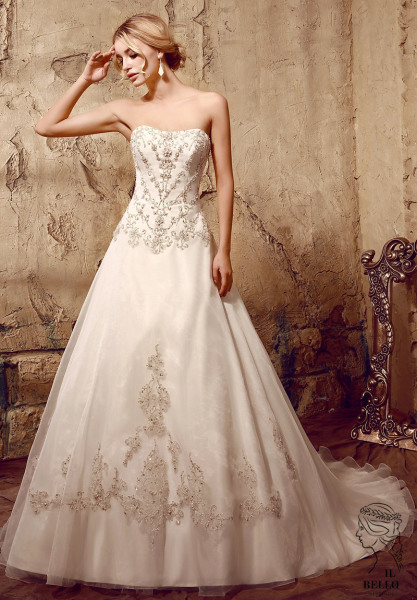 Organza A-Line Wedding Gown