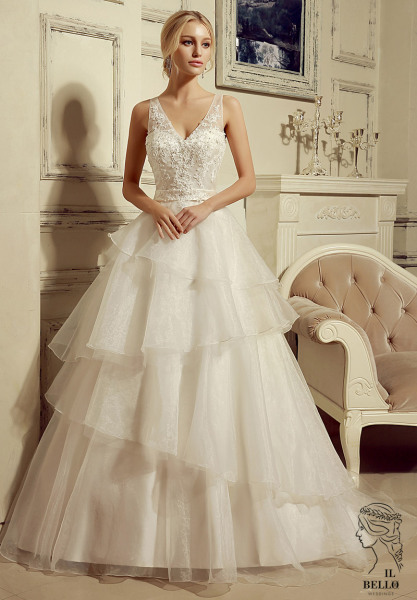 Organza Sleeveless Wedding Gown
