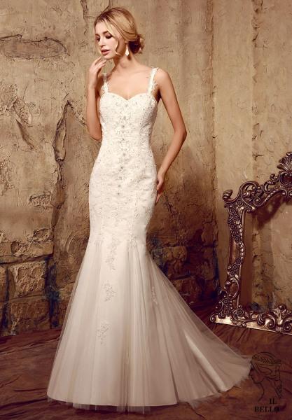 Mermaid Tulle Wedding Gown