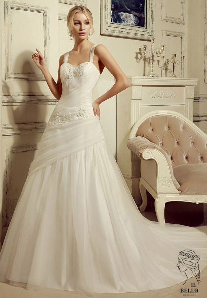 Sweetheart With Strap A-line Wedding Gown
