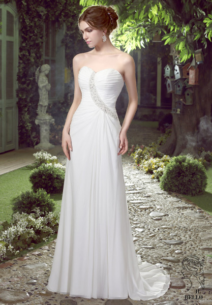 Chiffom Informal Wedding Gown