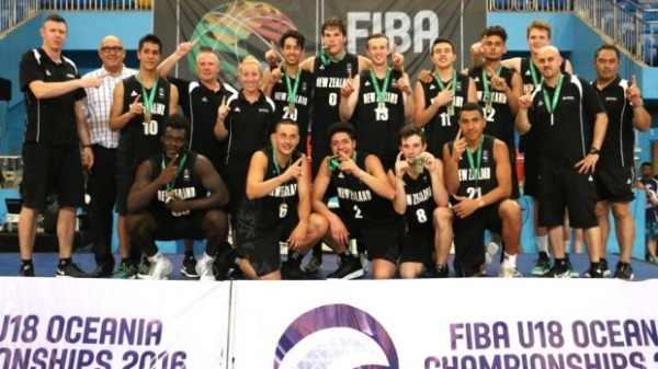 New Zealand boy basketball U18 oceania champions