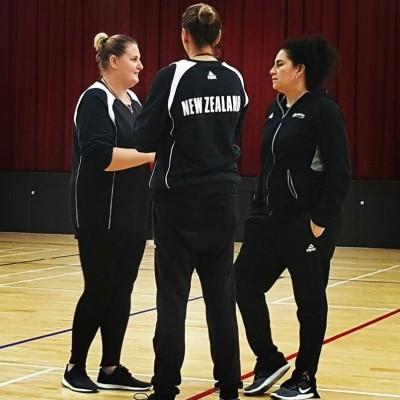 Lori McDaniel, Gina Farmer Jodi Campbell Coach NZ's U19 team