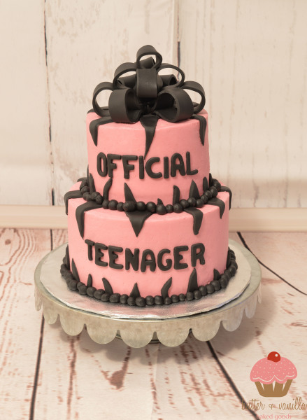 custom cake, butter + vanilla baked goods, calgary custom cakes, birthday cake, two tier cake,