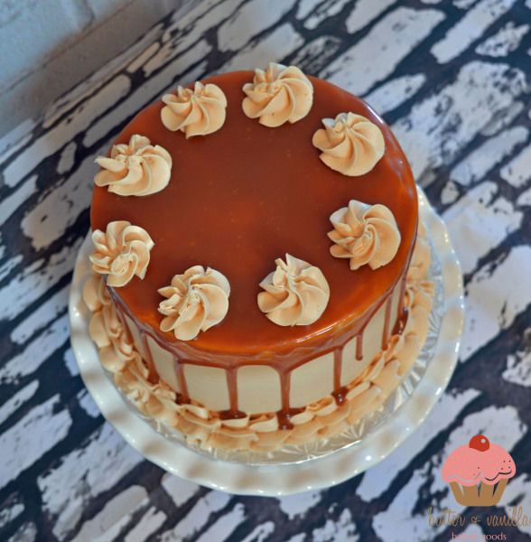drip cake, salted caramel, chocolate cake, calgary bakery, butter and vanilla baked goods