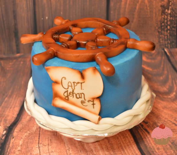 custom cake, butter + vanilla baked goods, calgary custom cakes, birthday cake, nautical cake