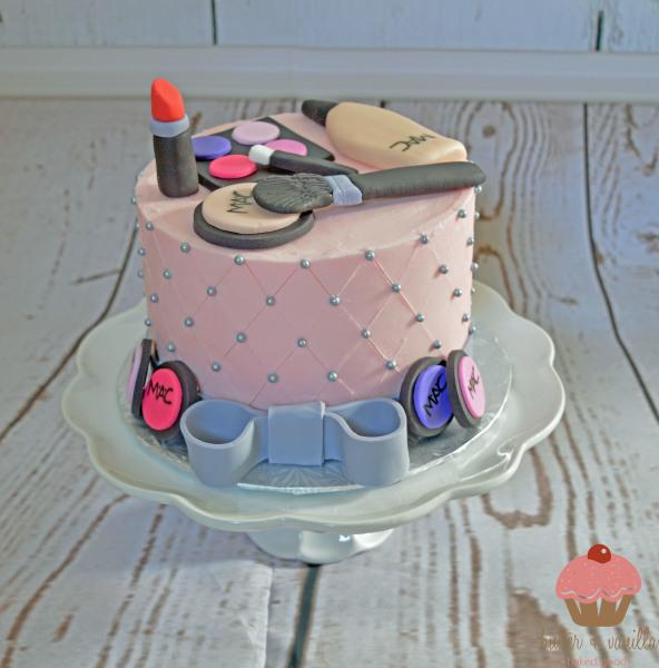 custom cake, butter + vanilla baked goods, calgary custom cakes, birthday cake, mac makeup
