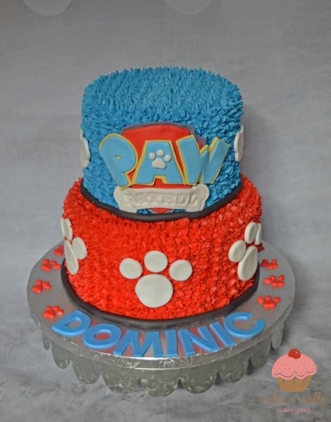 custom cake, butter + vanilla baked goods, calgary custom cakes, birthday cake, paw patrol cake