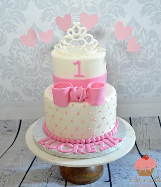 custom cake, butter + vanilla baked goods, calgary custom cakes, birthday cake, two tier cake,
