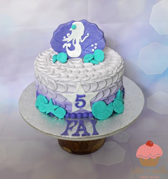 custom cake, butter + vanilla baked goods, calgary custom cakes, birthday cake,  mermaid cake, yyc custom cakes