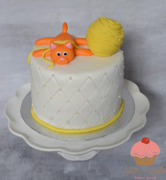 custom cake, butter + vanilla baked goods, calgary custom cakes, birthday cake, kitty cake, yyc custom cakes